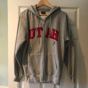 University of Utah Gray Full ZIP Hoodie